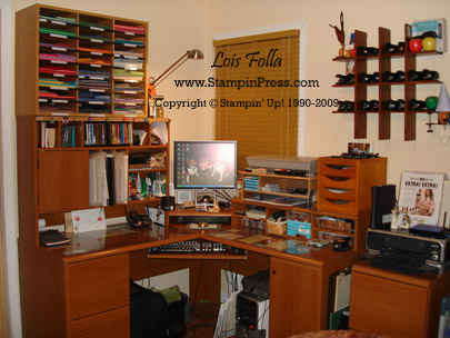 Desk & Wall of Punches 2008 sm wm