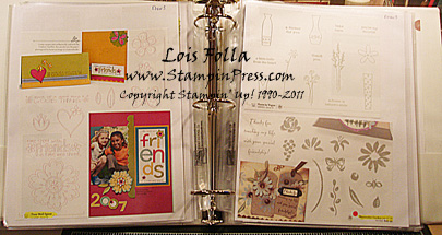 Retired Stamp Sets Binder 2009