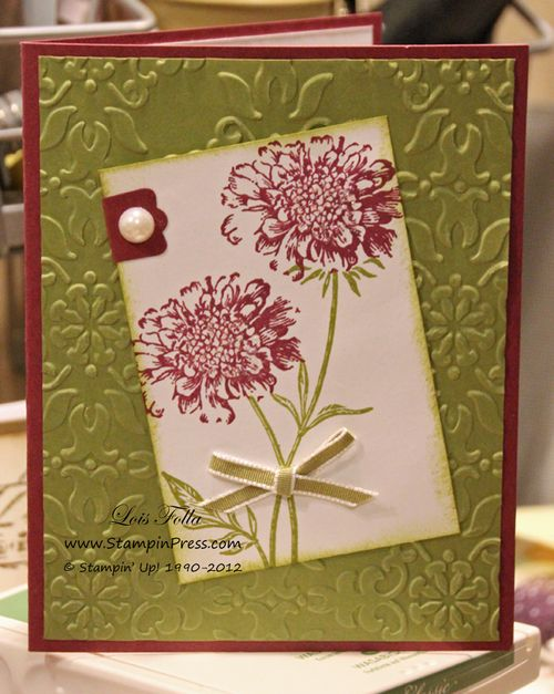 Field Flowers Pearl Card
