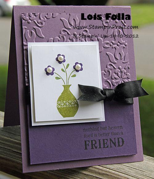 Button Buddies Vase Card